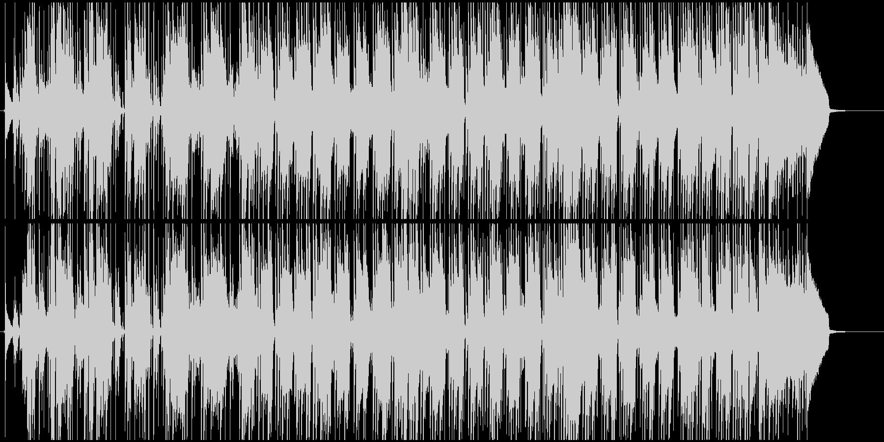 レゲエ風のトロピカルなBGMの未再生の波形