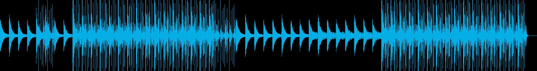 悲しげピアノ旋律の残響系テクノチルアウトの再生済みの波形