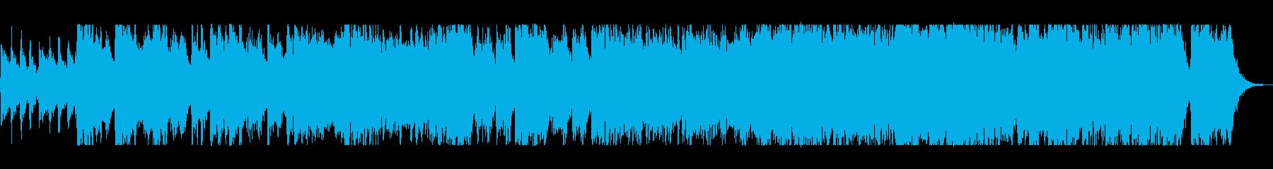 重厚な激しさのあるオーケストラの再生済みの波形