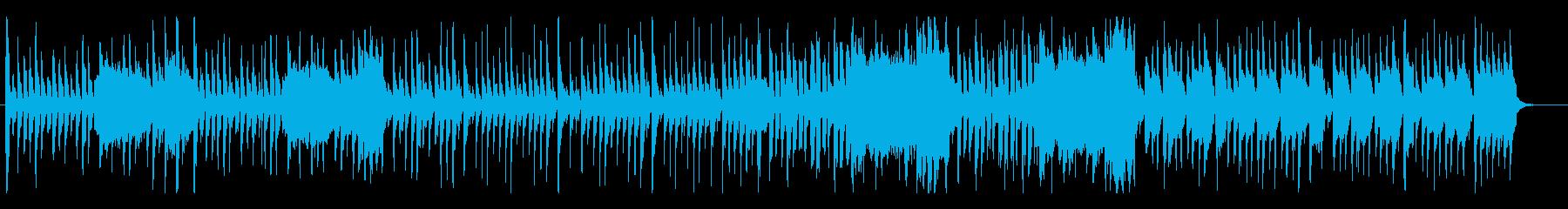ピコピコしたポップで楽しげなアコギBGMの再生済みの波形