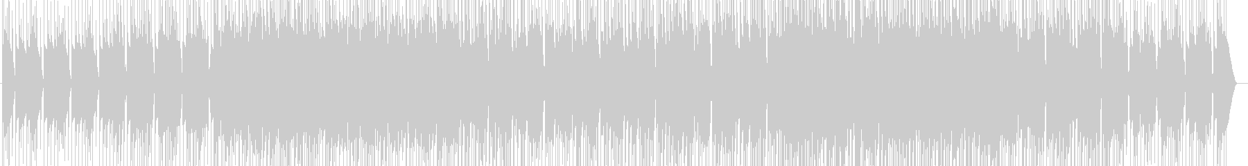 様々なリズムが折り重なっておりBGMの未再生の波形