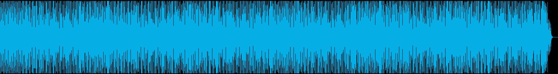 お洒落なミディアムテンポのポップスの再生済みの波形