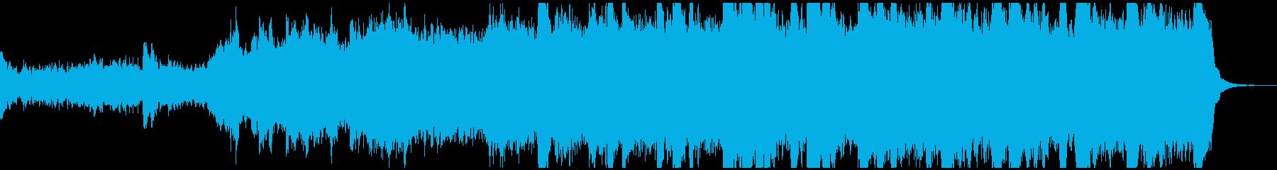 薄気味悪い、不気味な気配の音楽の再生済みの波形