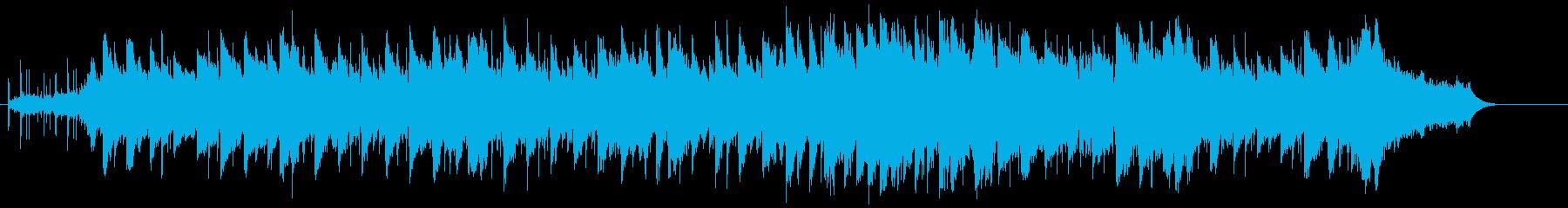 バラードに泣き要素のコントラストの再生済みの波形
