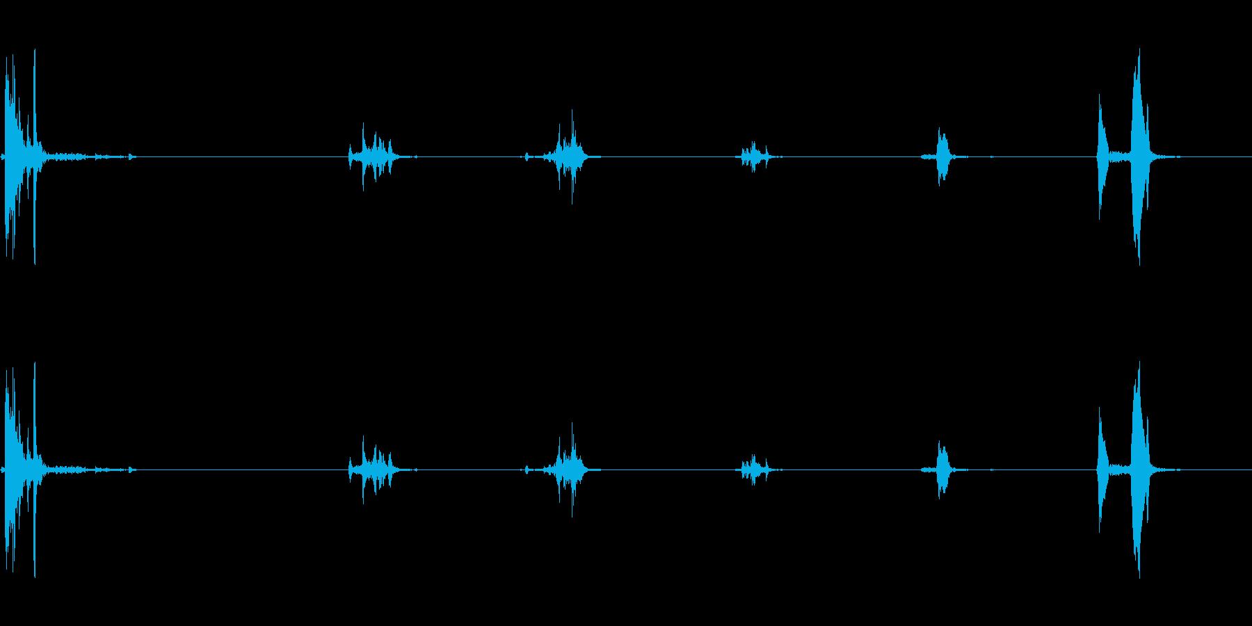 キュッキュッ(小さめの水筒を閉める音)1の再生済みの波形
