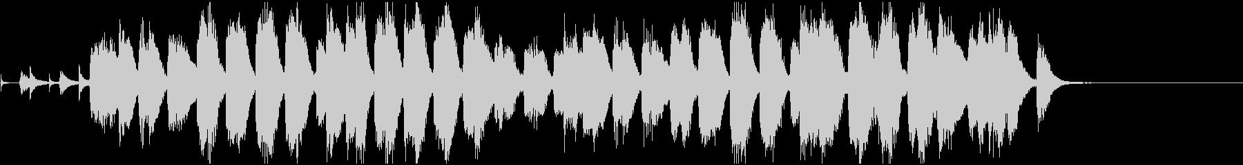 のんびりほのぼのしたピアノソロの未再生の波形