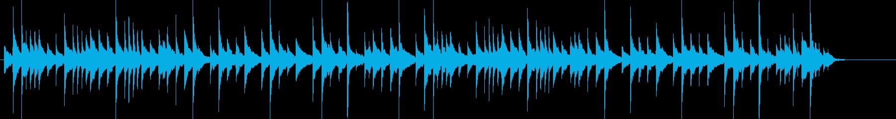 クリスマス定番曲の可愛いミニピアノ演奏の再生済みの波形