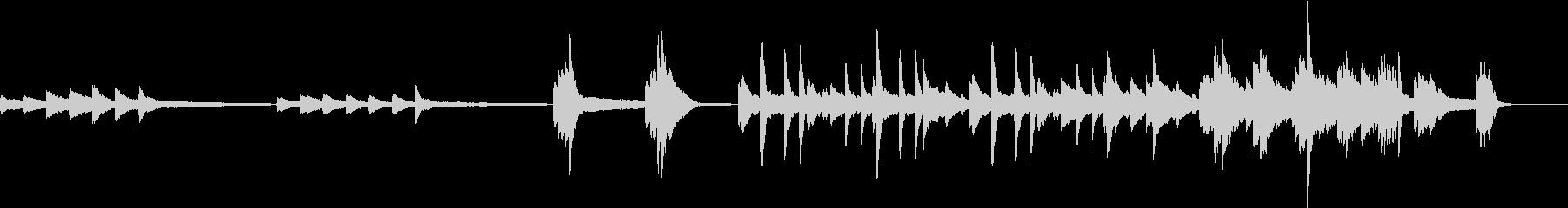 緊迫感ある時のBGMの未再生の波形