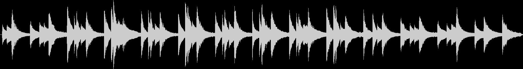 ゆったりと明るく爽やかなピアノBGMの未再生の波形