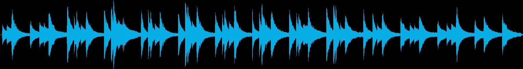 ゆったりと明るく爽やかなピアノBGMの再生済みの波形