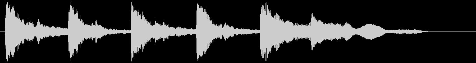 切ない響き ピアノの未再生の波形