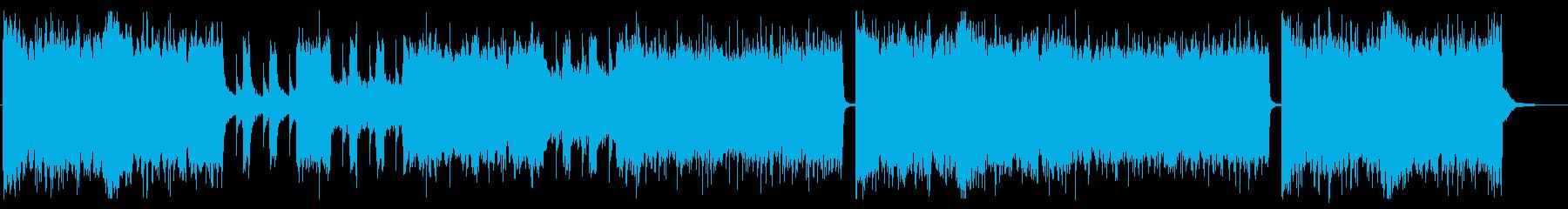 グルーヴ感のあるメタルコアの再生済みの波形