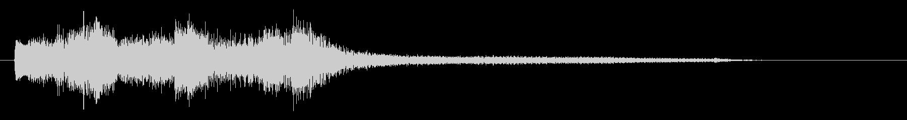 モダンで高級感のあるピアノジングル の未再生の波形
