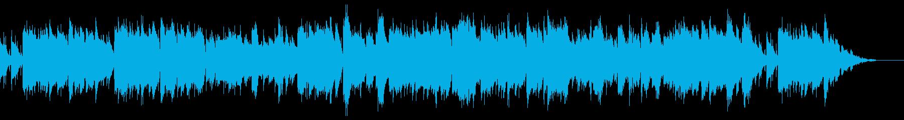ファンタジーRPGの平和な村や町の音楽の再生済みの波形