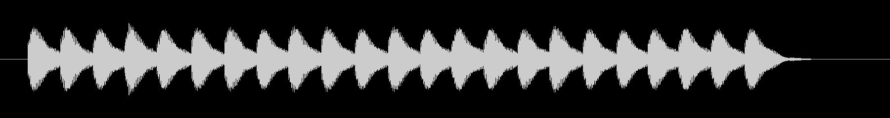 カンカンカンカンの未再生の波形
