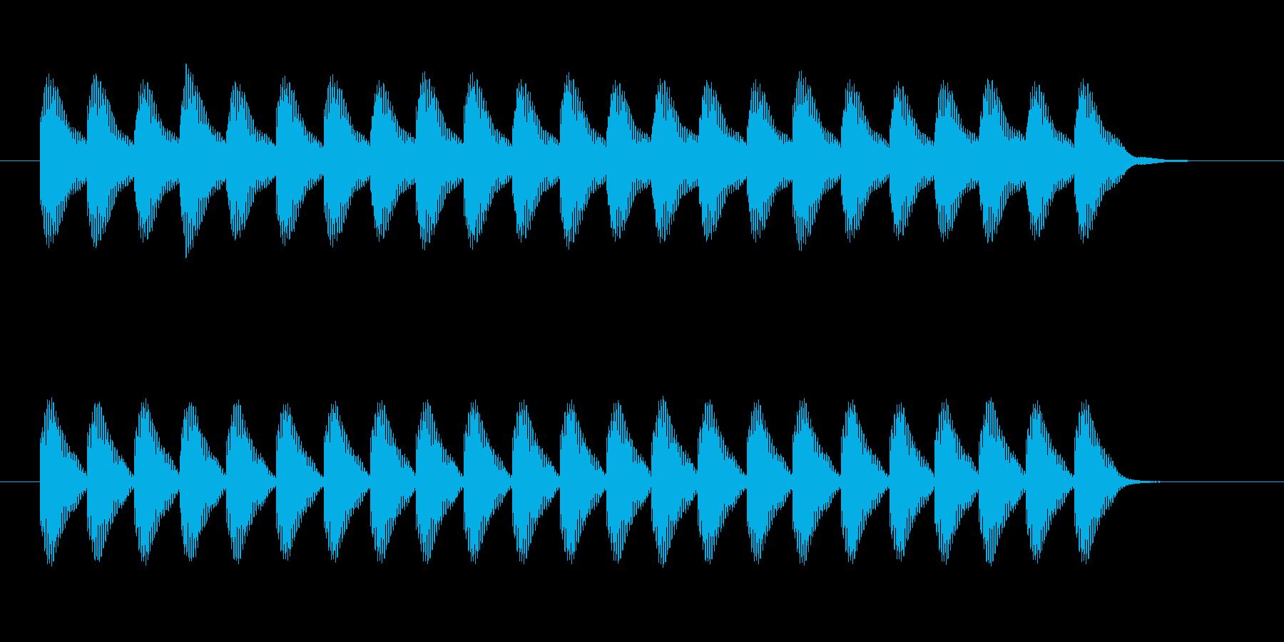 カンカンカンカンの再生済みの波形