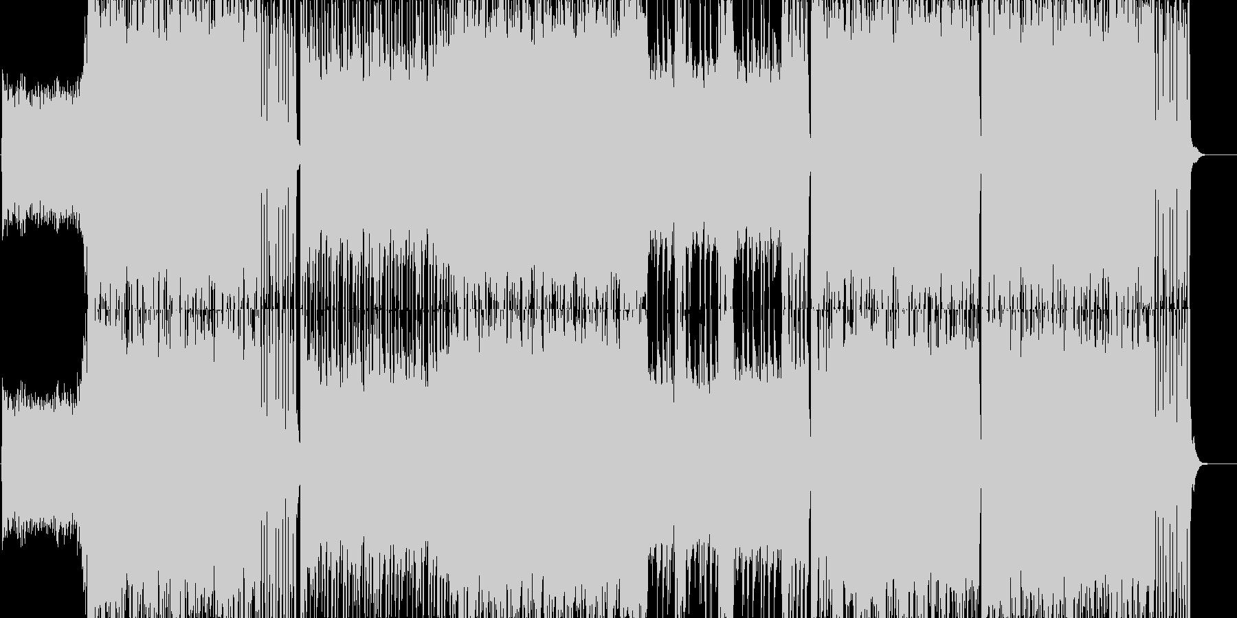 ゲーム用戦闘曲ハードロック4の未再生の波形