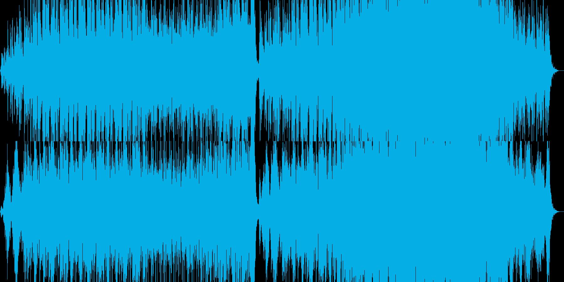 落ち着いた、ゆったり雰囲気の電子音楽の再生済みの波形