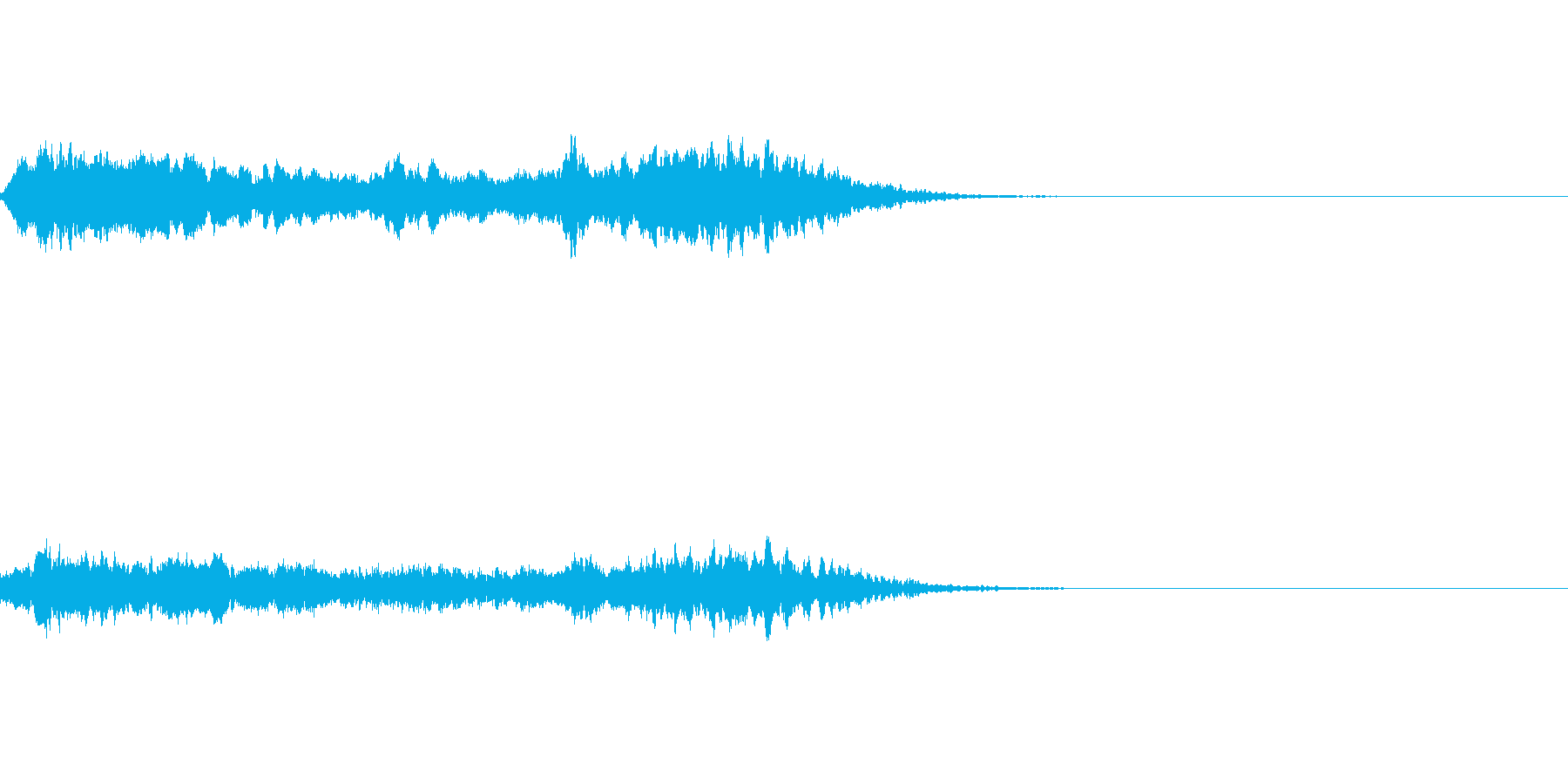 ブ〜ン!蜂ハチや昆虫が飛ぶ鳴く効果音03の再生済みの波形