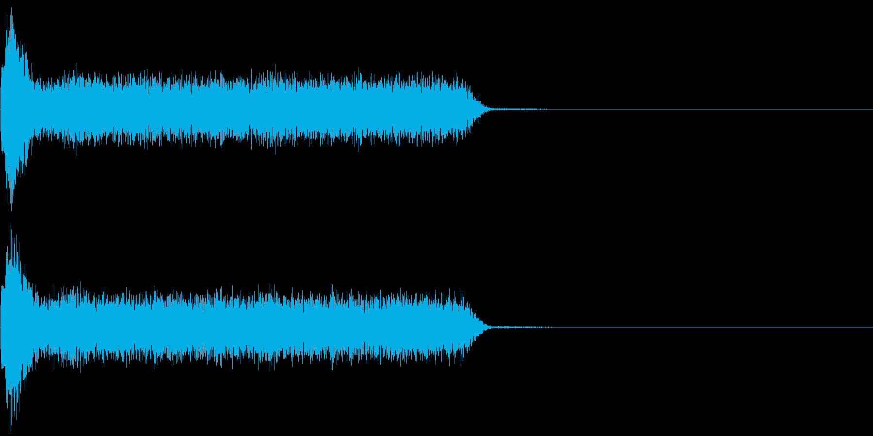 ビリビリ!電撃・感電の音!3ロングの再生済みの波形
