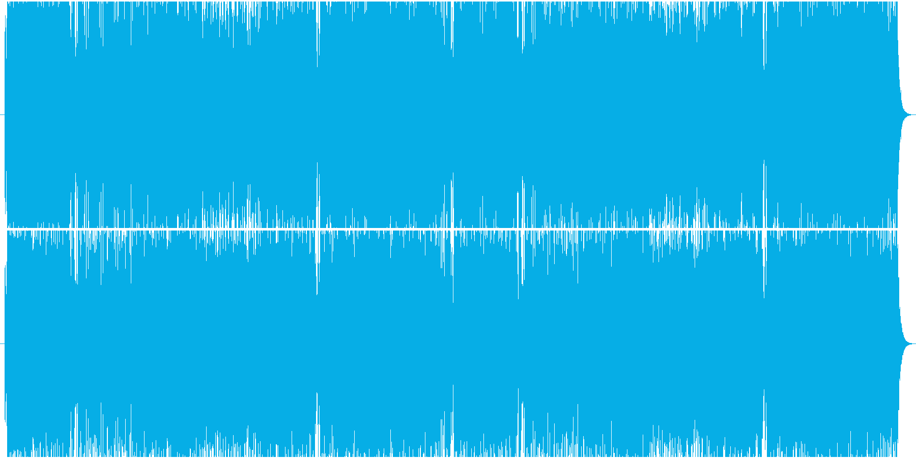 ヴァイオリンベースのロックな戦闘曲BGMの再生済みの波形