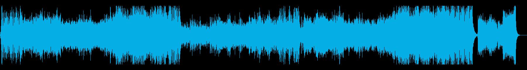 疾走感ある中世ファンタジー系合唱付オケ曲の再生済みの波形