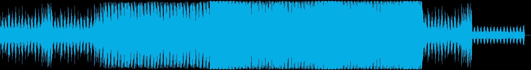緊迫感がある曲の再生済みの波形