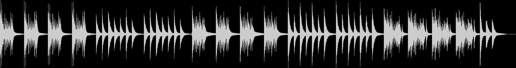 ホラー・不安なピアノ曲の未再生の波形