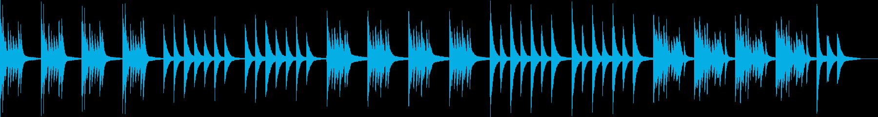 ホラー・不安なピアノ曲の再生済みの波形