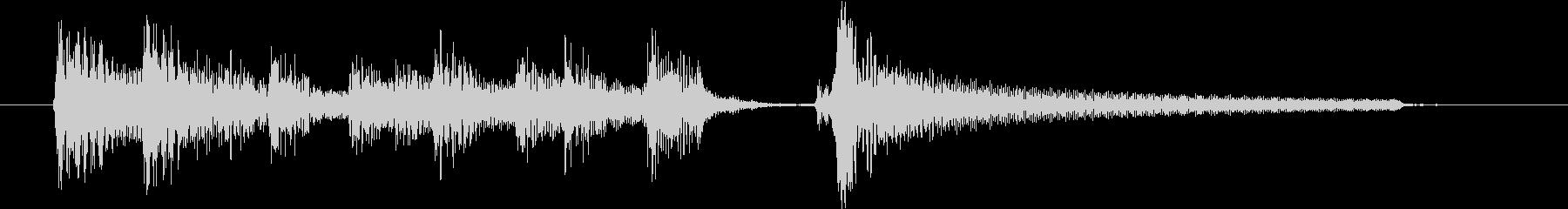 ギター1本、ボサノバ、ジングル、ゆったりの未再生の波形