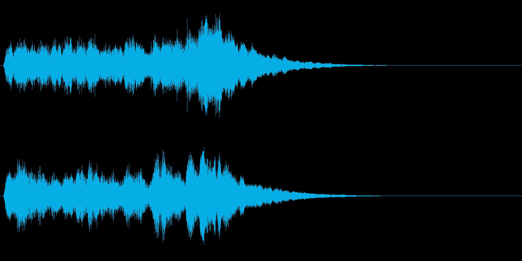 ベル音↑上昇フレーズ レベルアップなどの再生済みの波形