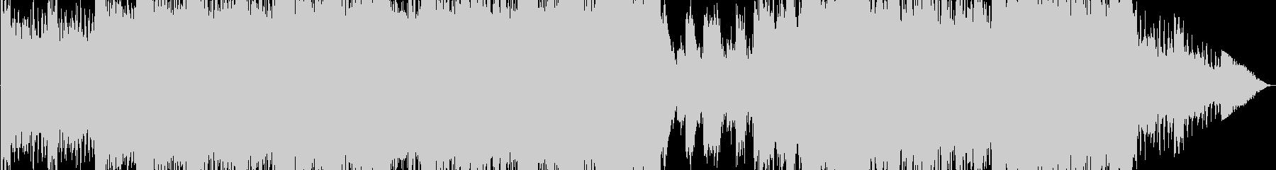 重厚感のあるオーケストラ曲の未再生の波形