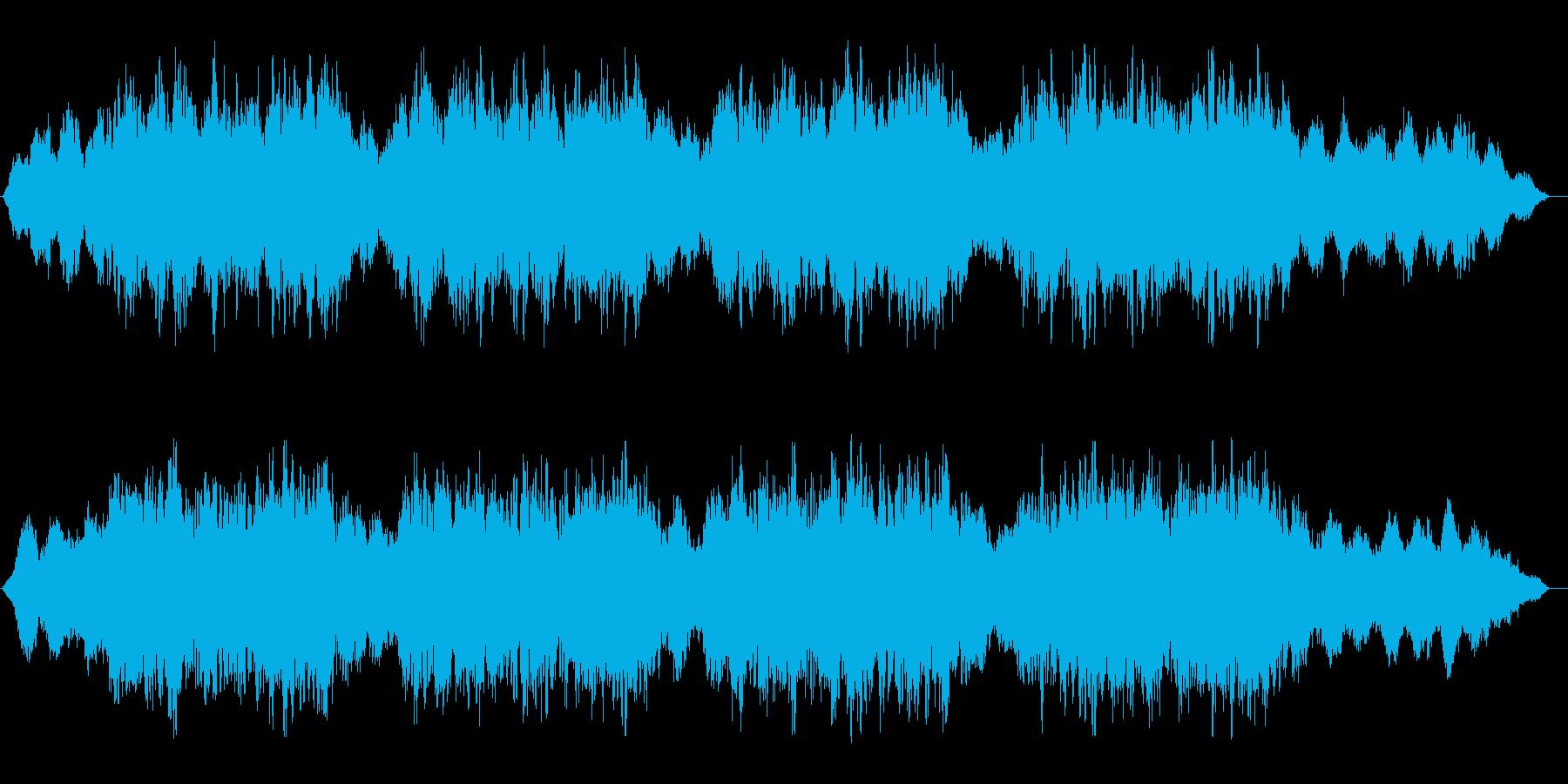 ホラー系BGM.01の再生済みの波形