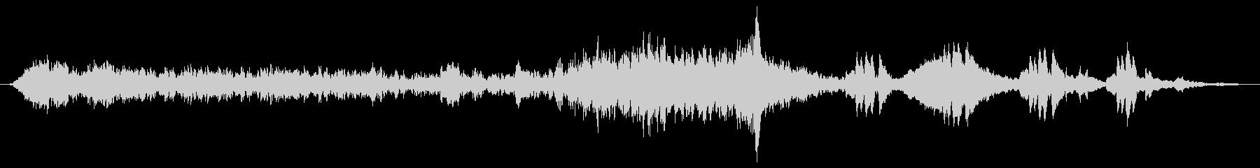 ミステリー、ホラー向きアンビエント楽曲の未再生の波形