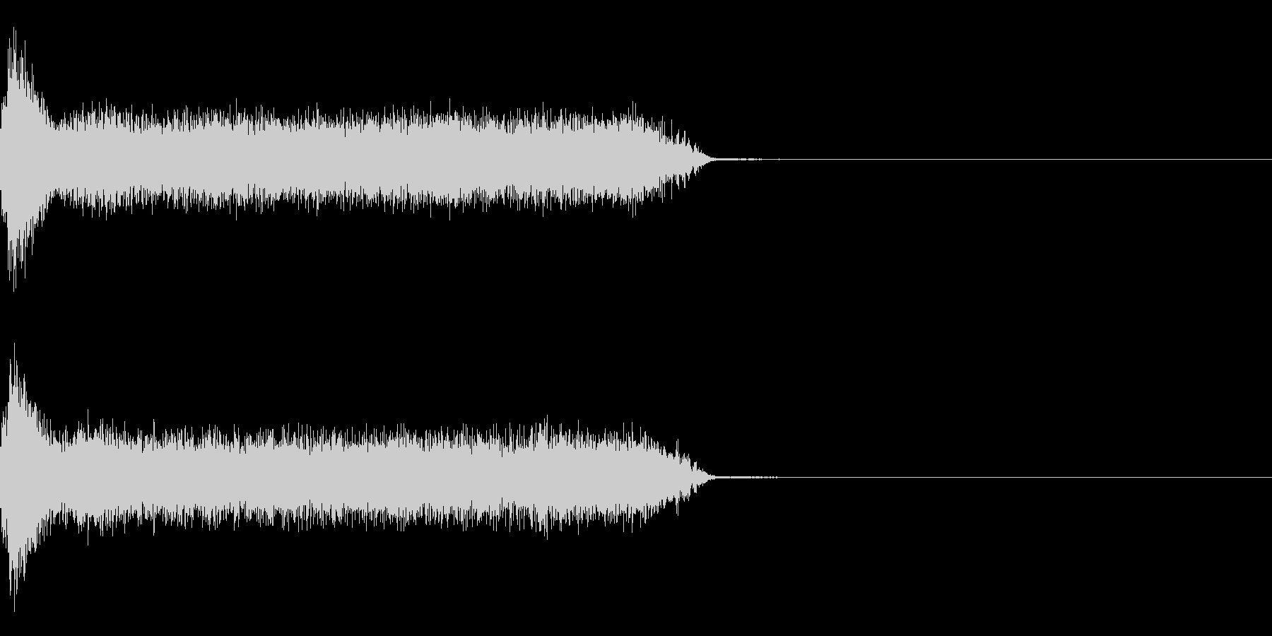 ビリビリ!電撃・感電の音!4ロングの未再生の波形
