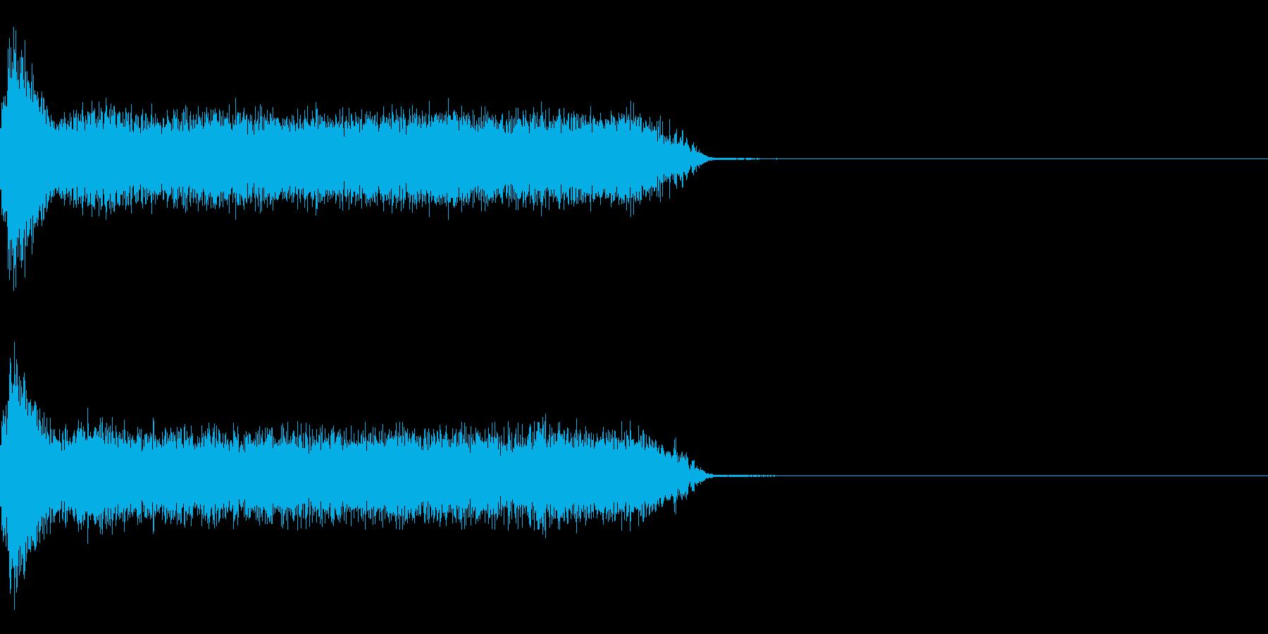 ビリビリ!電撃・感電の音!4ロングの再生済みの波形