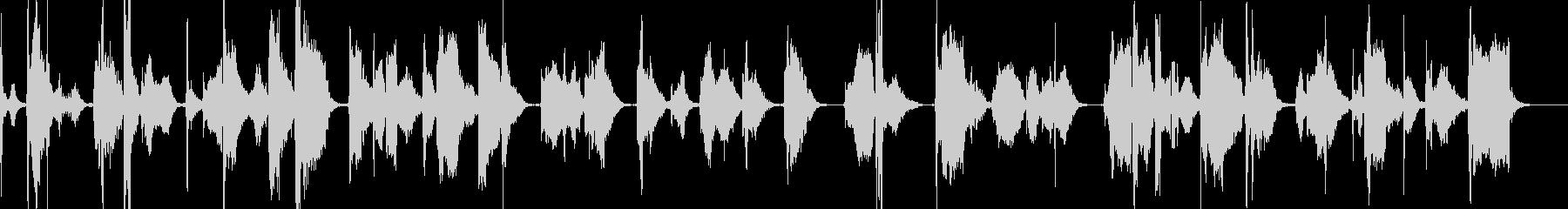 【ASRec】尺八の荘厳なソロの未再生の波形