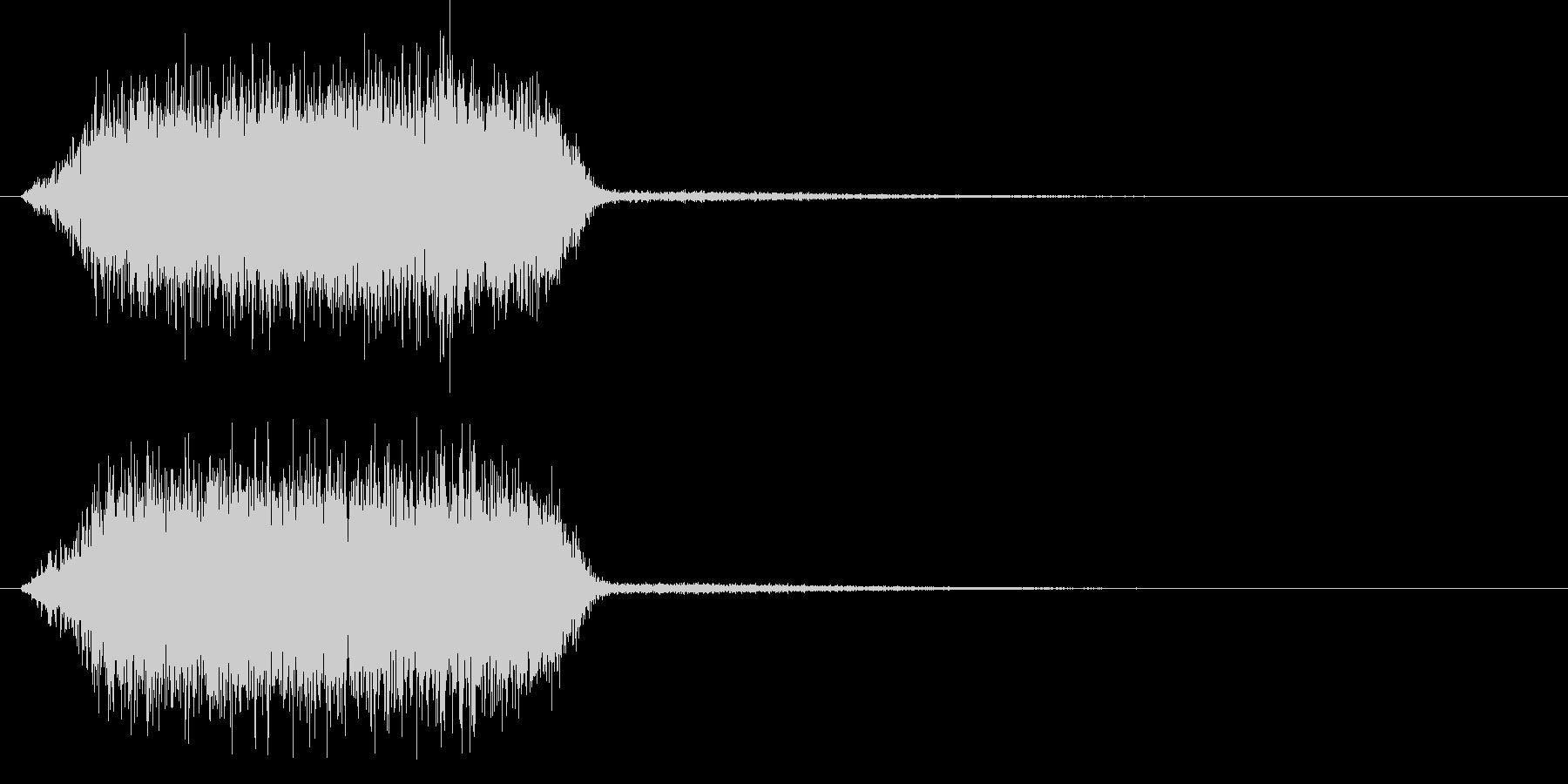ジュワー(ノイジーなシンセ音)の未再生の波形