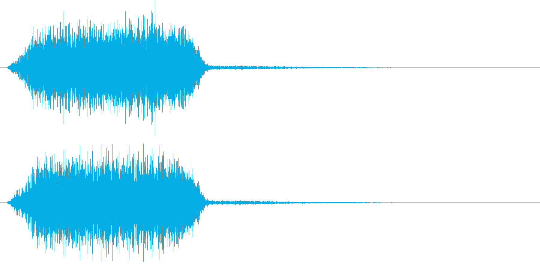 ジュワー(ノイジーなシンセ音)の再生済みの波形