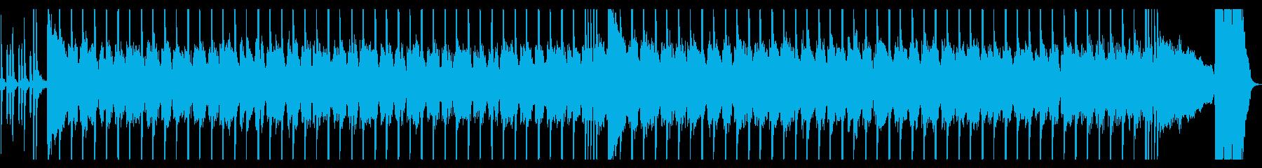 ロックギター、リフが繰り返されるBGM2の再生済みの波形