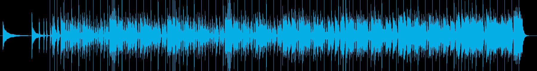 迫力満点のヒップホップビートの再生済みの波形
