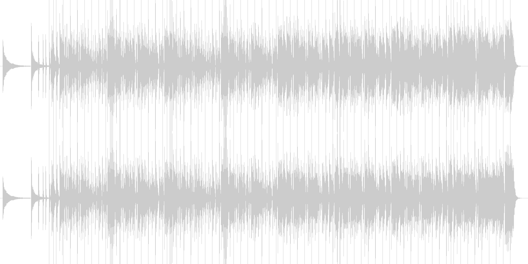 迫力満点のヒップホップビートの未再生の波形