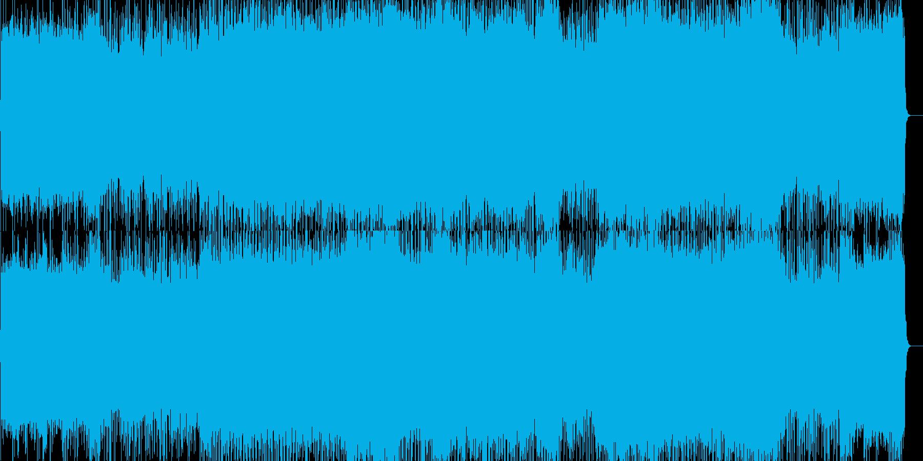 疾走感あふれる怒りのハードロックの再生済みの波形