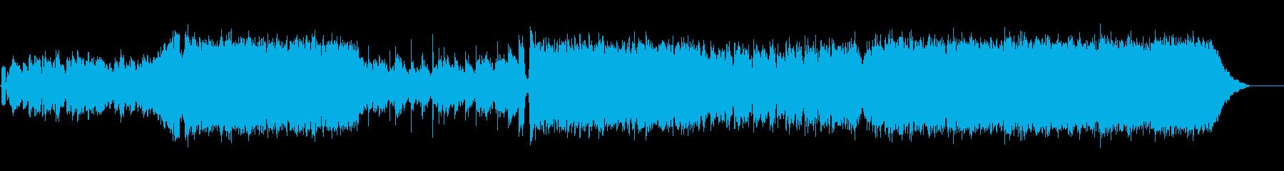 アニソンロックソングの再生済みの波形