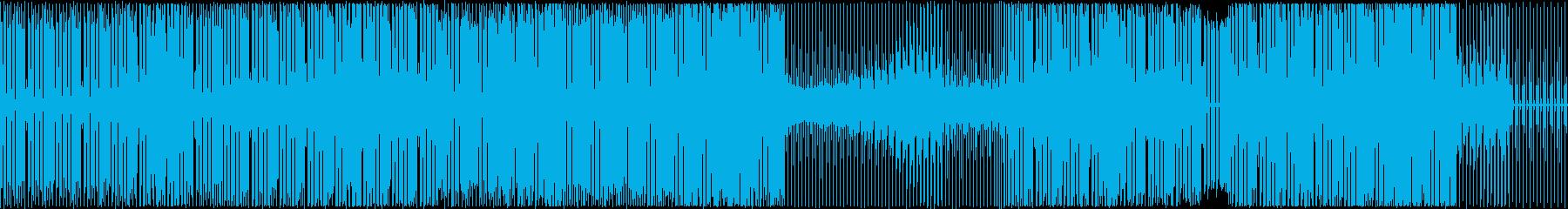 技術説明や解説BGM向きのテクノ音楽の再生済みの波形