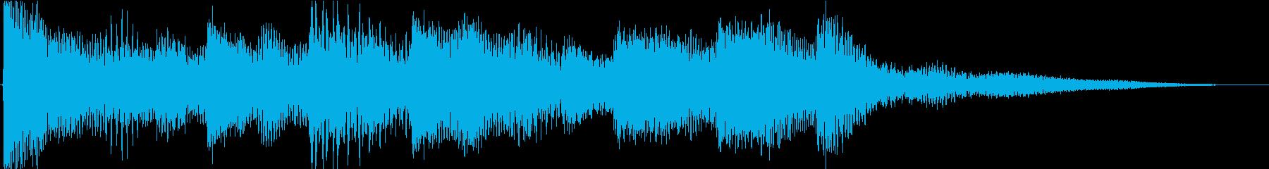 明るく平和なピアノジングルの再生済みの波形
