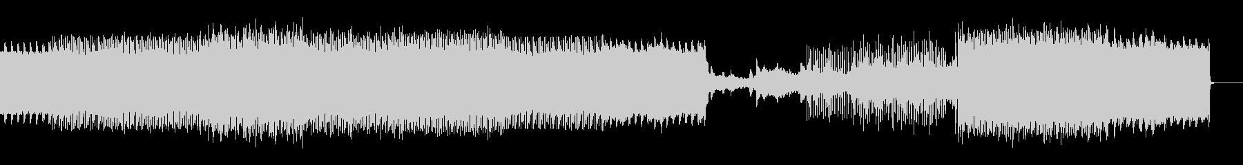 ヘビーな音が迫ってくるダークテクノBGMの未再生の波形