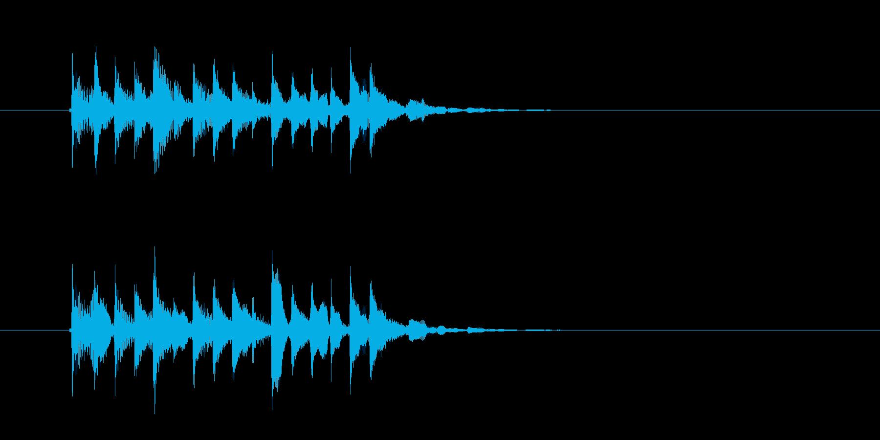 繊細なシンセサイザーのテクノポップスの再生済みの波形