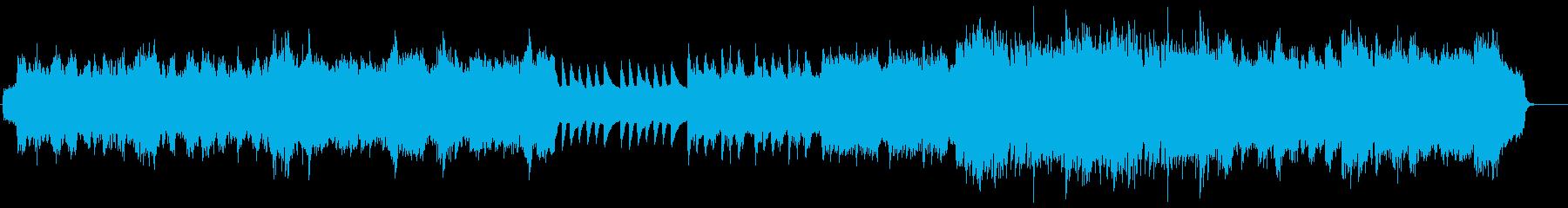 ミディアムテンポの優しいポップバラードの再生済みの波形