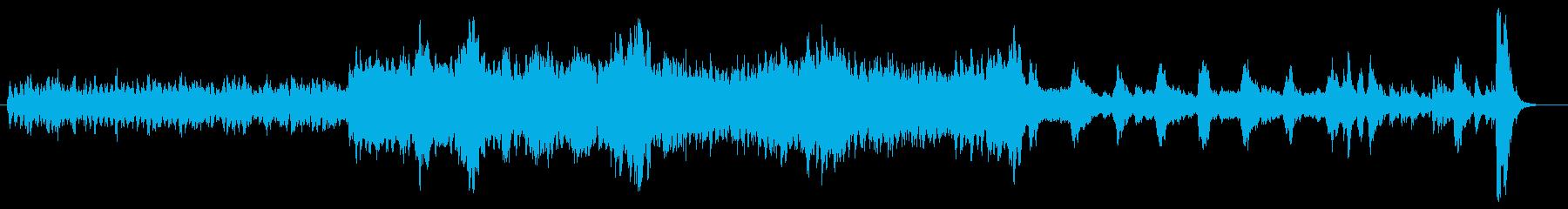 b悲劇的で緊迫したストリングス 1分の再生済みの波形
